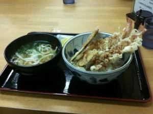 福岡市中央区|麺屋よし田 天丼セット