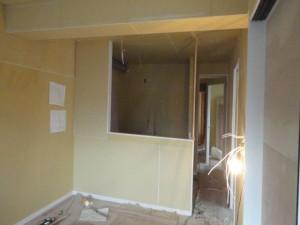 キッチン前の壁
