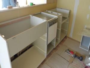 食洗機が組み込まれました。